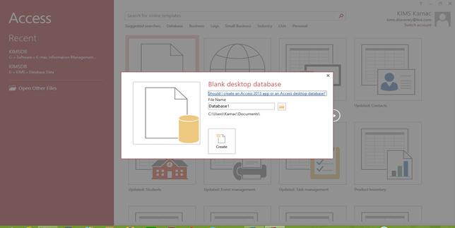 create Access DB