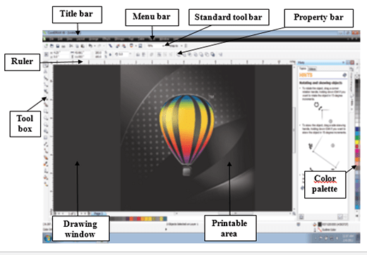 CorelDraw window