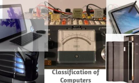 Computer Components and classification of Computers for Junior Students