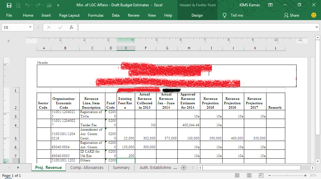 Data entry in Excel - data entry for printing