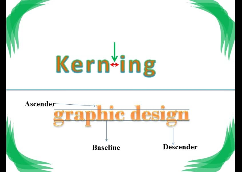 kerning and ascenders