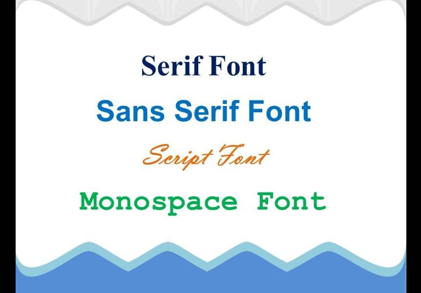 design - typography - sans serif