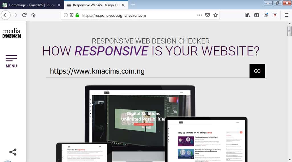 RD checker: creating responsive web layout using @media rule