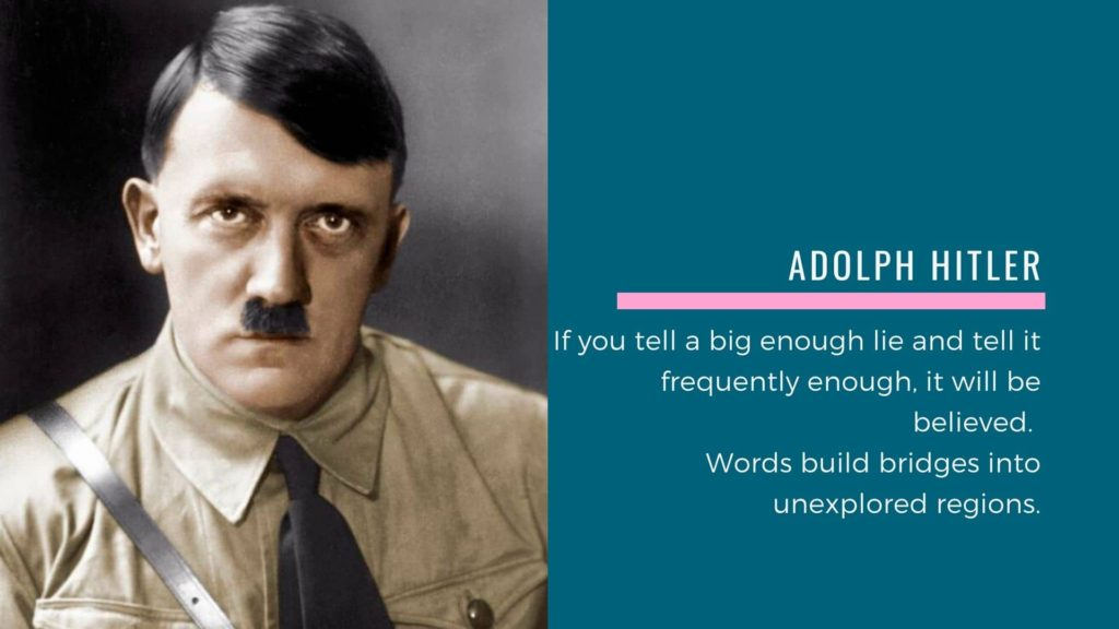 Adolph Hitler quote