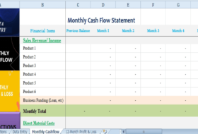 Financial Plan for Startup Business Template